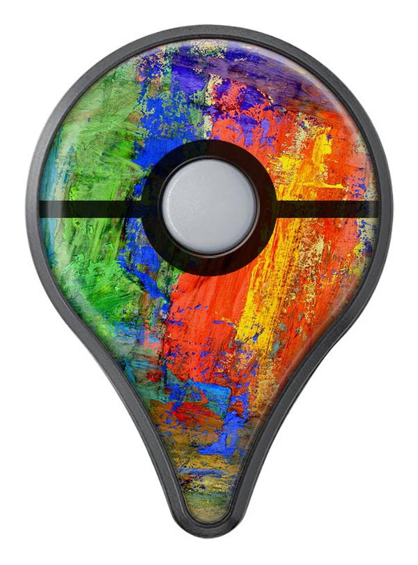 Abstract Bright Primary and Secondary Colored Oil Painting - Pokémon GO Plus Vinyl Protective Skin Kit