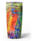 Abstract Bright Primary and Secondary Colored Oil Painting Yeti Rambler Skin Kit