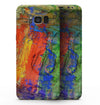 Abstract Bright Primary and Secondary Colored Oil Painting - Samsung Galaxy S8 Full-Body Skin Kit