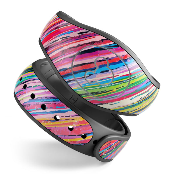 Abstract Color Strokes - Decal Skin Wrap Kit for the Disney Magic Band