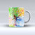 The Abstract Colorful WaterColor Vivid Tree V3 ink-Fuzed Ceramic Coffee Mug