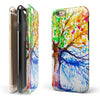 Abstract Colorful WaterColor Vivid Tree V3 iPhone 6/6s or 6/6s Plus 2-Piece Hybrid INK-Fuzed Case