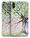 Abstract Colorful WaterColor Vivid Tree - iPhone X Skin-Kit