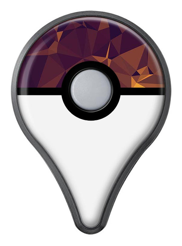Abstract Copper Geometric Shapes Pokémon GO Plus Vinyl Protective Decal Skin Kit