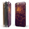 Abstract Copper Geometric Shapes iPhone 6/6s or 6/6s Plus 2-Piece Hybrid INK-Fuzed Case