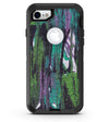 Abstract Cracked Green Paint Wall - iPhone 7 or 8 OtterBox Case & Skin Kits