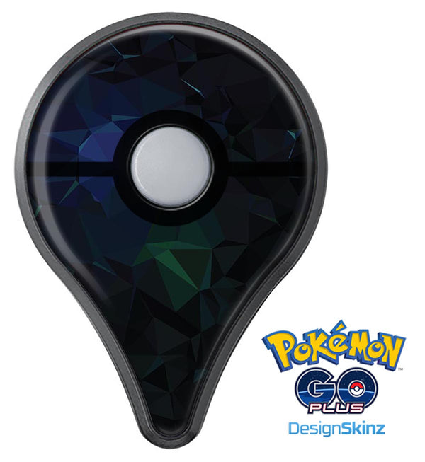 Abstract Dark Blue Geometric Shapes Pokémon GO Plus Vinyl Protective Decal Skin Kit