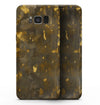 Abstract Dark Gray and Golden Specks - Samsung Galaxy S8 Full-Body Skin Kit