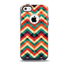 Abstract Fall Colored Chevron Pattern Skin for the iPhone 5c OtterBox Commuter Case