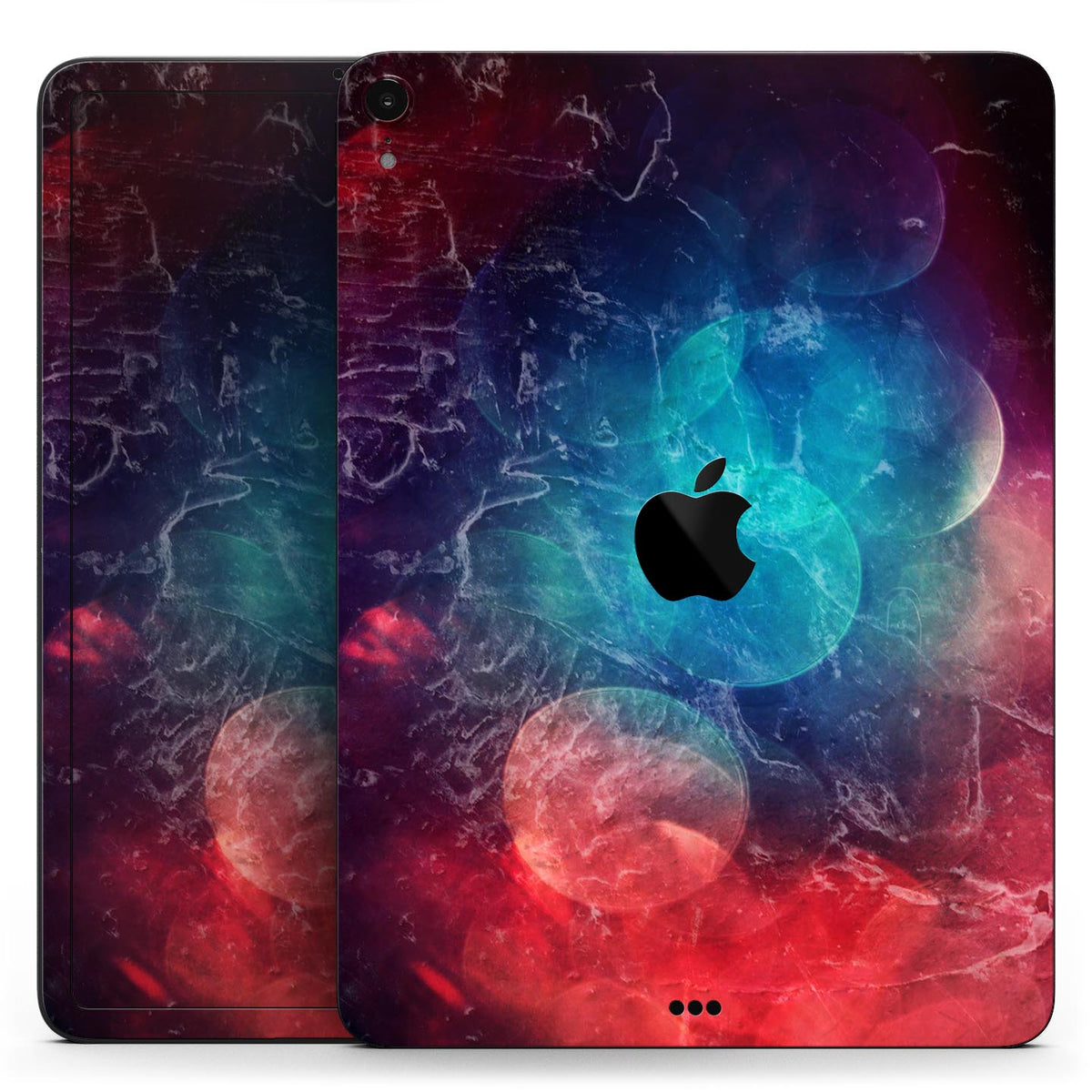 Abstract Fire Ice V7 Full Body Skin Decal For The Apple Ipad Pro 12 9 11 10 5 9 7 Air Or Mini All Models Available