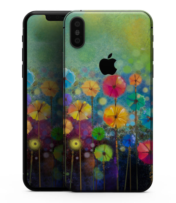 Abstract Flower Meadow - iPhone XS MAX, XS/X, 8/8+, 7/7+, 5/5S/SE Skin-Kit (All iPhones Available)