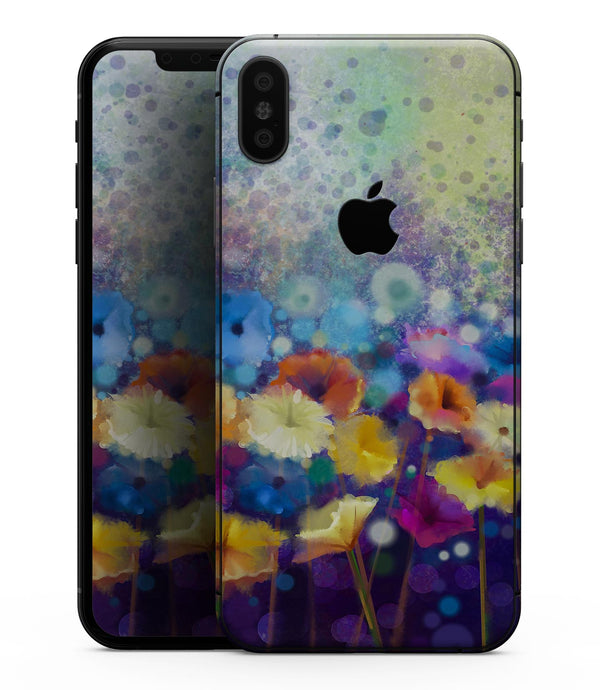 Abstract Flower Meadow v2 - iPhone XS MAX, XS/X, 8/8+, 7/7+, 5/5S/SE Skin-Kit (All iPhones Available)