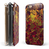 Abstract Geometric Lava Triangles iPhone 6/6s or 6/6s Plus 2-Piece Hybrid INK-Fuzed Case