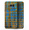 Abstract Gold and Teal Wet Paint - Samsung Galaxy S8 Full-Body Skin Kit