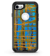Abstract Gold and Teal Wet Paint - iPhone 7 or 8 OtterBox Case & Skin Kits