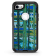 Abstract Green Plaid Paint Wall - iPhone 7 or 8 OtterBox Case & Skin Kits