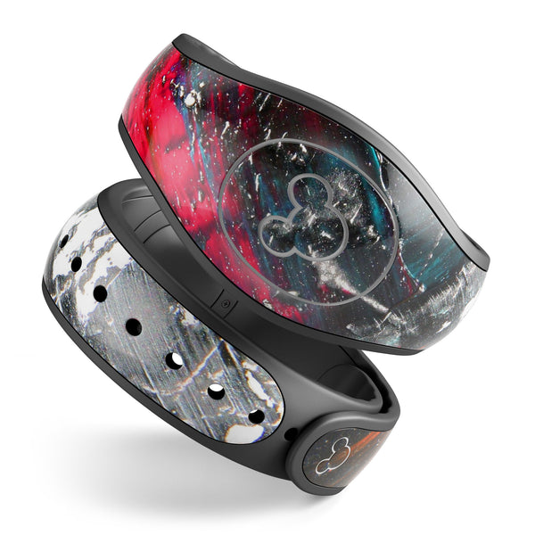 Abstract Grungy Oil Mess - Decal Skin Wrap Kit for the Disney Magic Band