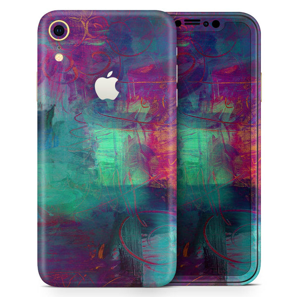 Abstract Oil Painting V3 - Skin-Kit for the Apple iPhone XR, XS MAX, XS/X, 8/8+, 7/7+, 5/5S/SE (All iPhones Available)