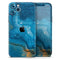 Abstract Oiled Blue Marble - Skin-Kit for the Apple iPhone 11, 11 Pro or 11 Pro Max