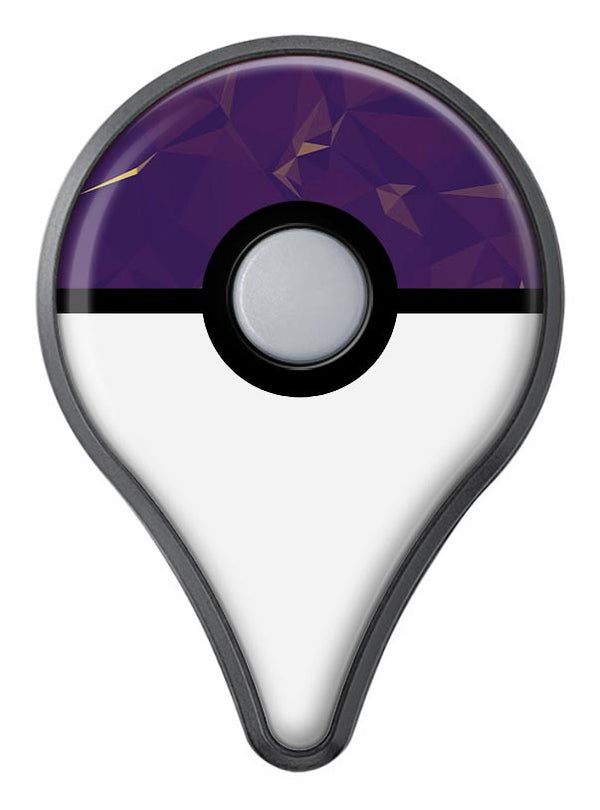 Abstract Purple and Gold Geometric Shapes Pokémon GO Plus Vinyl Protective Decal Skin Kit