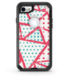Abstract Red and Teal Overlaps - iPhone 7 or 8 OtterBox Case & Skin Kits
