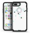Abstract Scattered Black and Teal Dots - iPhone 7 Plus/8 Plus OtterBox Case & Skin Kits