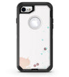 Abstract Scattered Teal Dots with Paint Spill - iPhone 7 or 8 OtterBox Case & Skin Kits