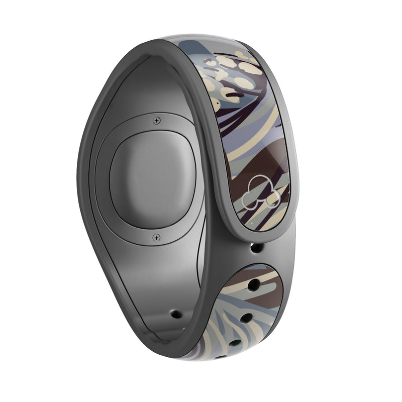 Abstract Subtle Toned Floral Strokes - Decal Skin Wrap Kit for the Disney Magic Band