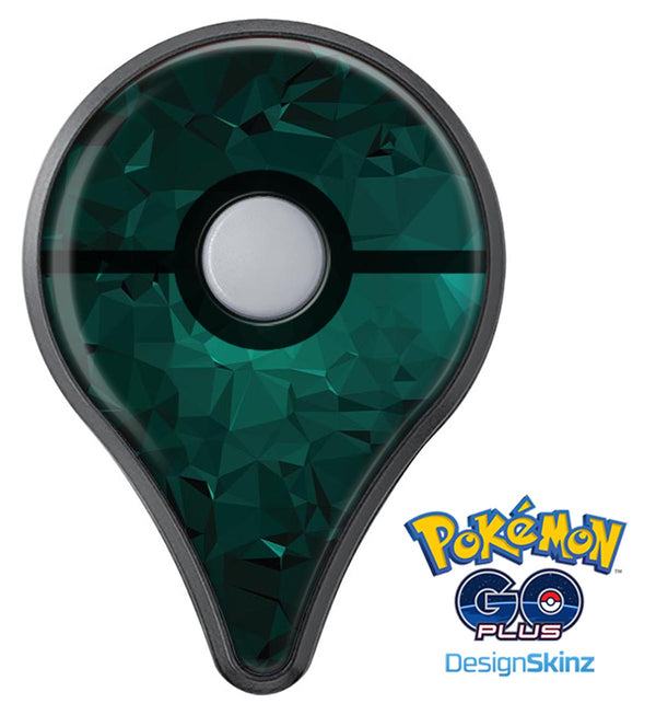 Abstract Teal Geometric Shapes Pokémon GO Plus Vinyl Protective Decal Skin Kit