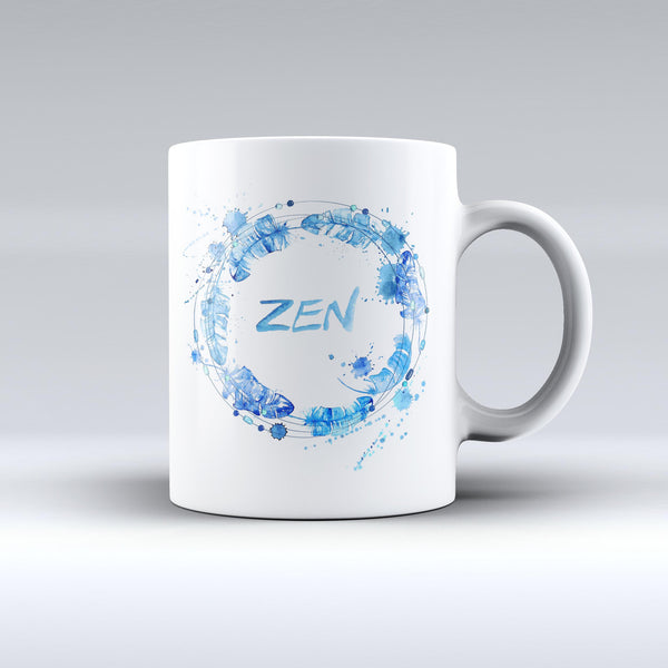 The-Abstract-Watercolor-Blue-Feather-Circle-ink-fuzed-Ceramic-Coffee-Mug