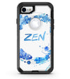 Abstract Watercolor Blue Feather Circle - iPhone 7 or 8 OtterBox Case & Skin Kits