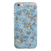 Abstract Wet Paint Blue Crossed iPhone 6/6s or 6/6s Plus 2-Piece Hybrid INK-Fuzed Case
