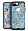 Abstract Wet Paint Blue Crossed - iPhone 7 Plus/8 Plus OtterBox Case & Skin Kits