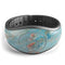 Abstract Wet Paint Coral Blues - Decal Skin Wrap Kit for the Disney Magic Band