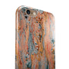 Abstract Wet Paint Coral Love iPhone 6/6s or 6/6s Plus 2-Piece Hybrid INK-Fuzed Case