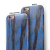 Abstract Wet Paint Dark Blues v3 iPhone 6/6s or 6/6s Plus 2-Piece Hybrid INK-Fuzed Case