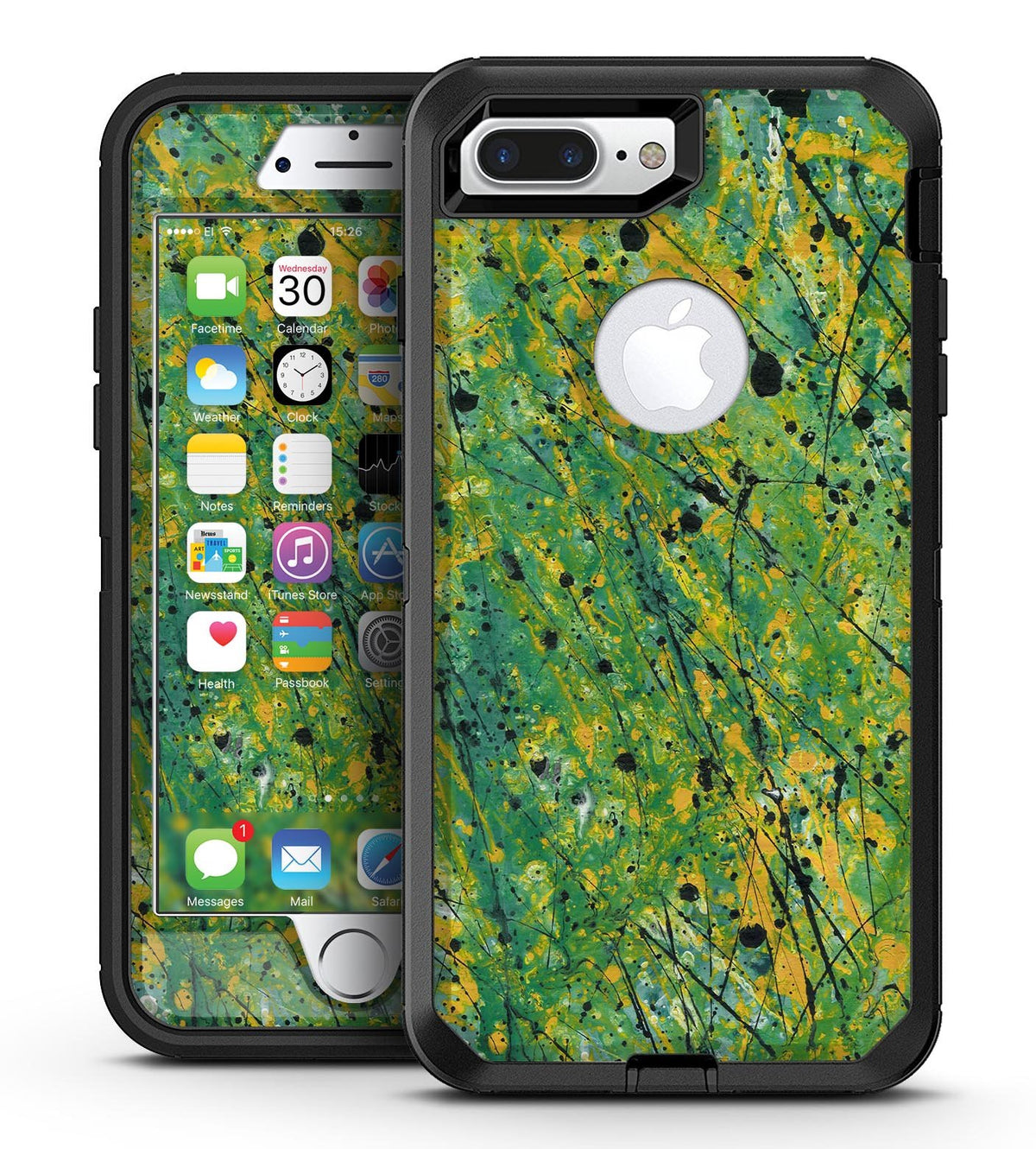 size 40 198cc 9d527 Abstract Wet Paint Green Lines - iPhone 7 Plus/8 Plus OtterBox Case & Skin  Kits