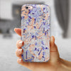 Abstract Wet Paint Pale iPhone 6/6s or 6/6s Plus 2-Piece Hybrid INK-Fuzed Case