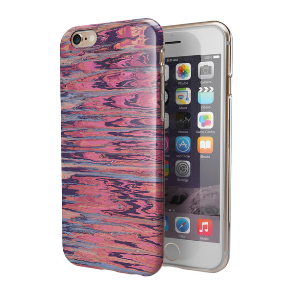 Abstract Wet Paint Pink Sag iPhone 6/6s or 6/6s Plus 2-Piece Hybrid INK-Fuzed Case