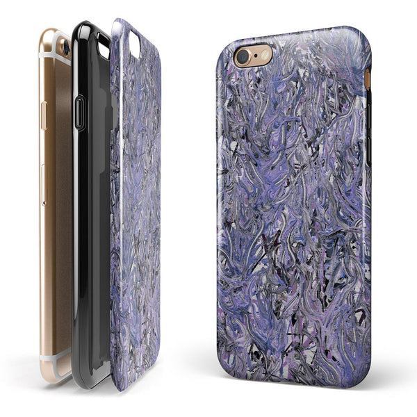 Abstract Wet Paint Purples v3 iPhone 6/6s or 6/6s Plus 2-Piece Hybrid INK-Fuzed Case