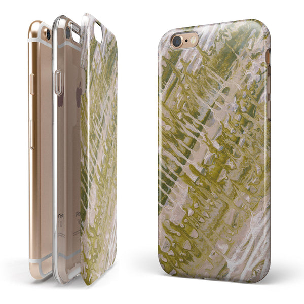 Abstract Wet Paint Subtle Pink Gold iPhone 6/6s or 6/6s Plus 2-Piece Hybrid INK-Fuzed Case