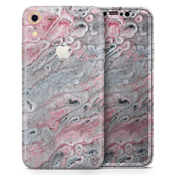 Abstract Wet Paint Subtle Pink and Gray - Skin-Kit for the Apple iPhone XR, XS MAX, XS/X, 8/8+, 7/7+, 5/5S/SE (All iPhones Available)