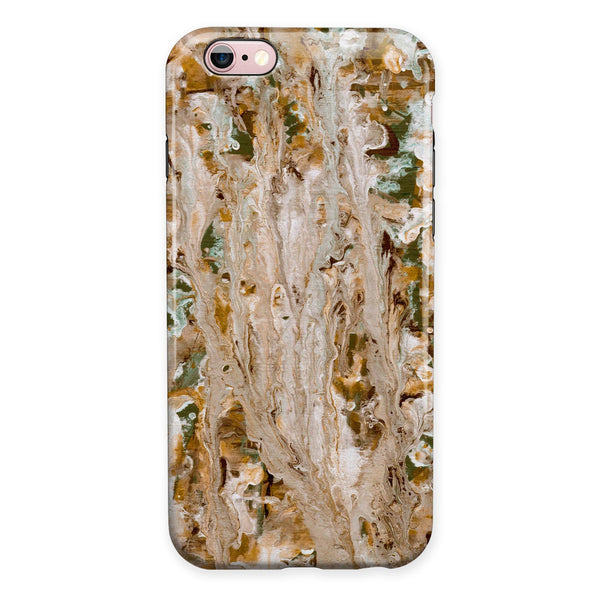 Abstract Wet Paint Vintage iPhone 6/6s or 6/6s Plus 2-Piece Hybrid INK-Fuzed Case