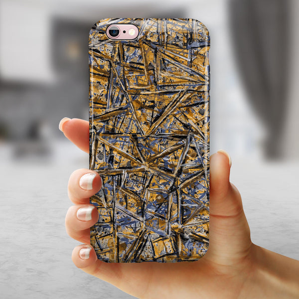 Abstract Wet Paint v4 iPhone 6/6s or 6/6s Plus 2-Piece Hybrid INK-Fuzed Case