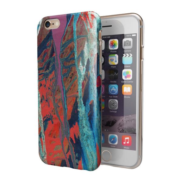 Abstract Wet Paint v92 iPhone 6/6s or 6/6s Plus 2-Piece Hybrid INK-Fuzed Case