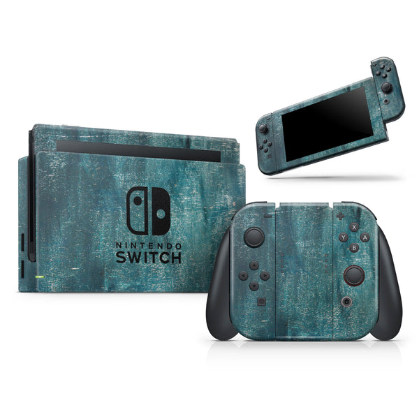 Aged Green Paint Surface- Skin Wrap Kit for Nintendo Switch, Switch Lite Console | 3DS XL | 2DS | Pro | Joy-Con Gaming Controller