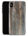 Aged Horizontal Wood Planks - iPhone X Clipit Case