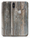 Aged Horizontal Wood Planks - iPhone X Skin-Kit