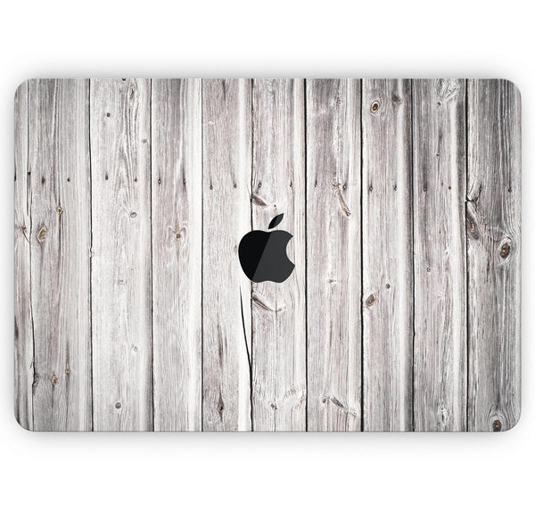 "Aged White Wood Planks - Skin Decal Wrap Kit Compatible with the Apple MacBook Pro, Pro with Touch Bar or Air (11"", 12"", 13"", 15"" & 16"" - All Versions Available)"