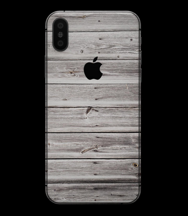 Aged White Wood Planks - iPhone XS MAX, XS/X, 8/8+, 7/7+, 5/5S/SE Skin-Kit (All iPhones Available)